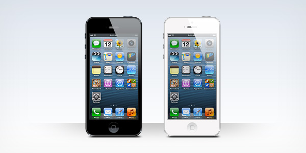 PSD mockup of the iPhone 5 White Iphone 5 Psd