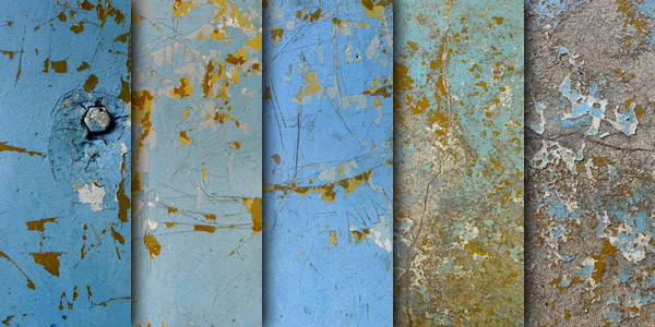 Wall paint peeling textures