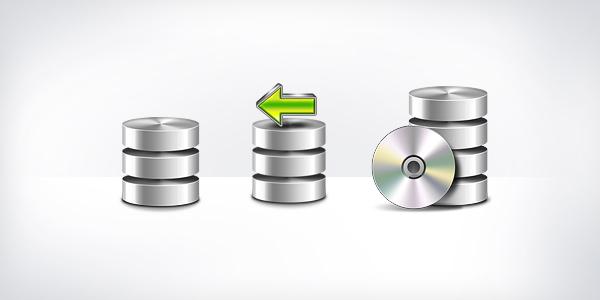 Database Backup Icons (PSD & PNG)