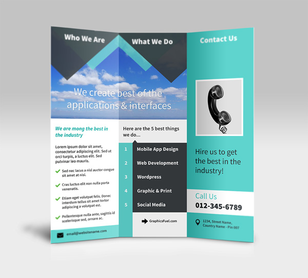 beautiful free psd brochure design templates 2014