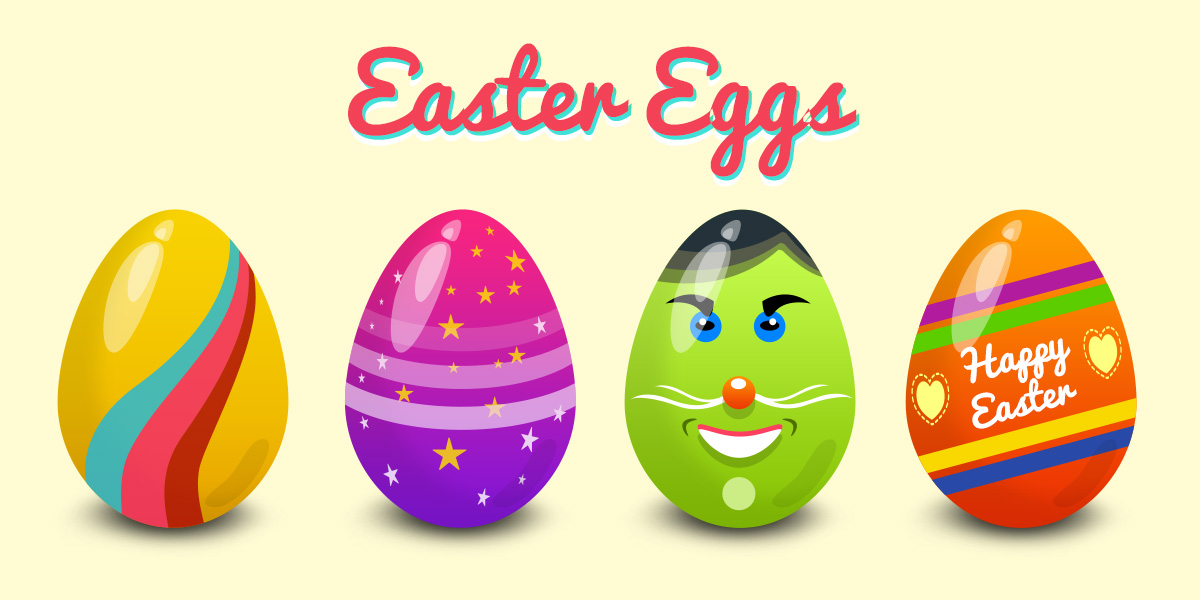 Easter Eggs Vector PSD