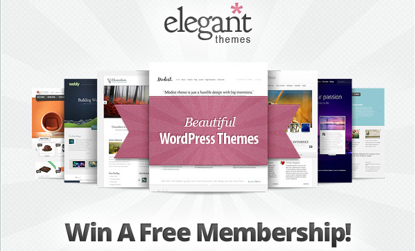 3 WordPress Themes Lifetime Membership Giveaway from ElegantThemes