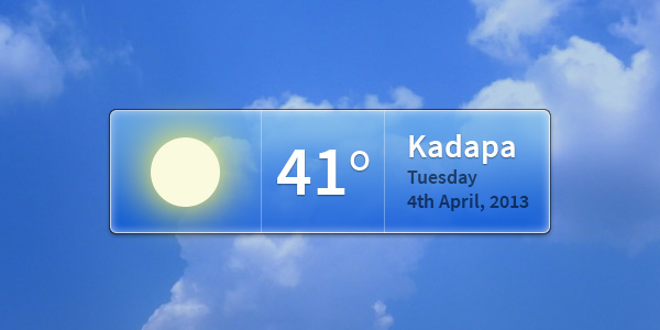 Weather Widget PSD