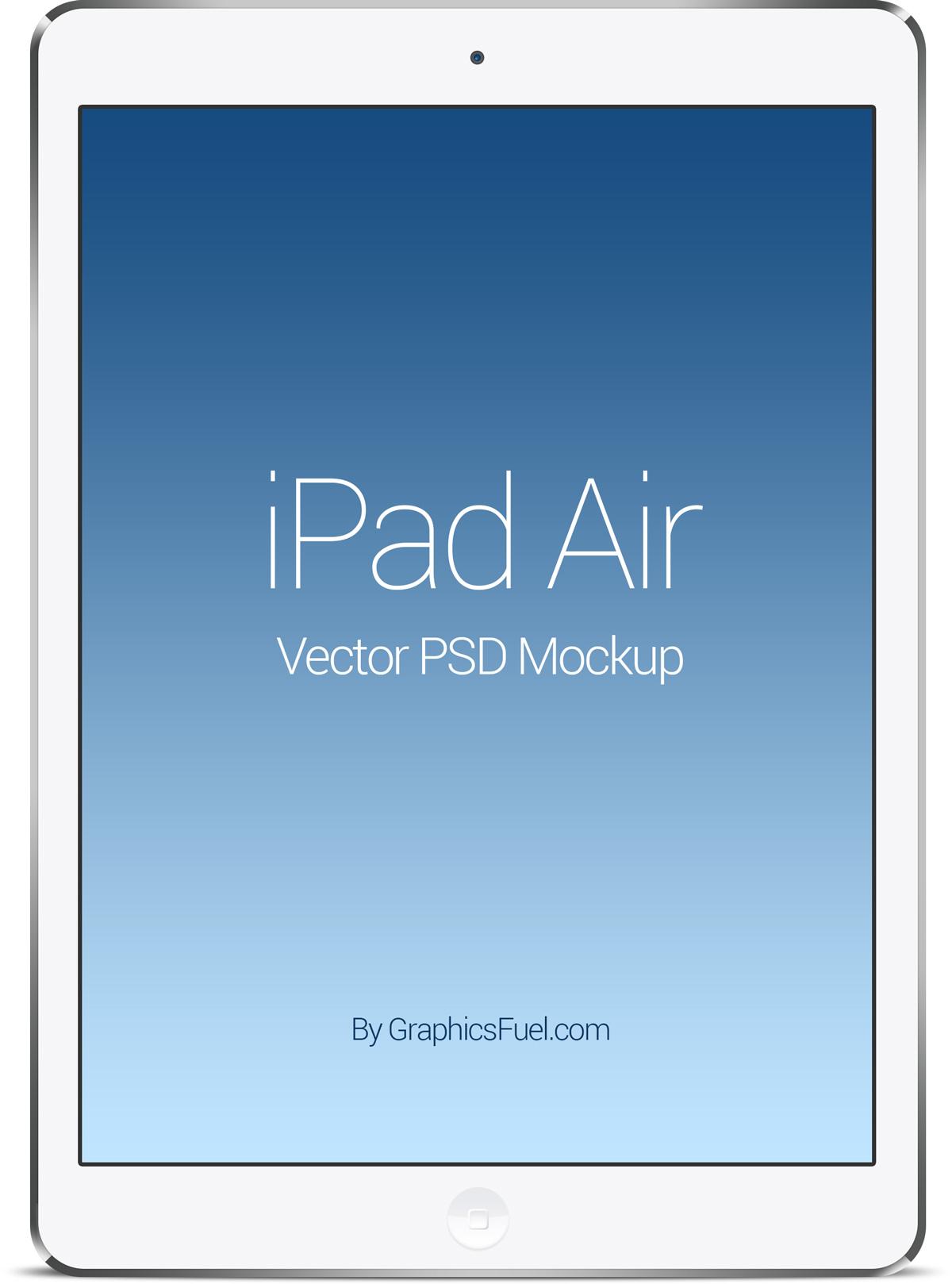 Ipad Air Psd Mockup Graphicsfuel