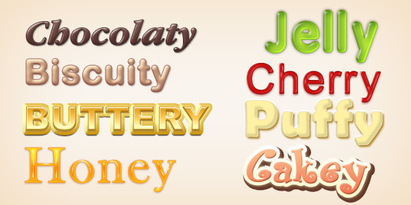 Yummy Photoshop Text Styles (PSD & ASL)