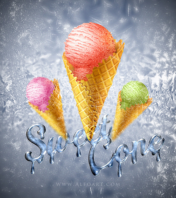 ice-cone-ps-tutorial
