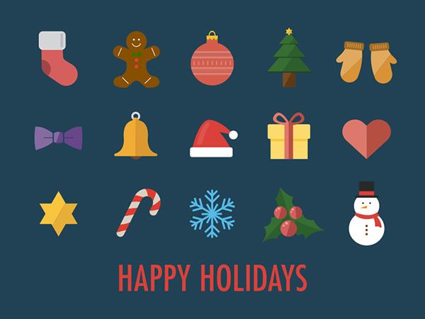 15 Christmas & New Year Design Freebies