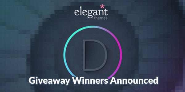 ElegantThemes Giveaway Winners Announced