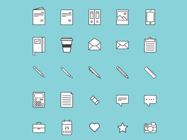 25 Free Illustrative Vector Icons
