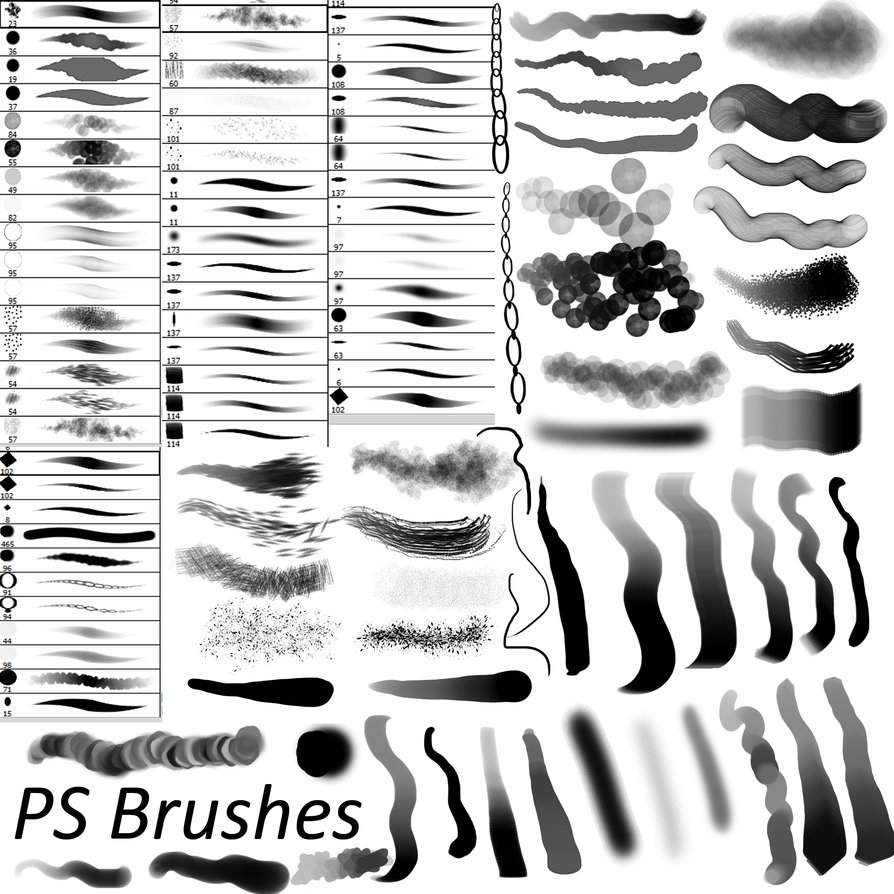 15 Free Photoshop Drawing & Painting Brush Sets - GraphicsFuel