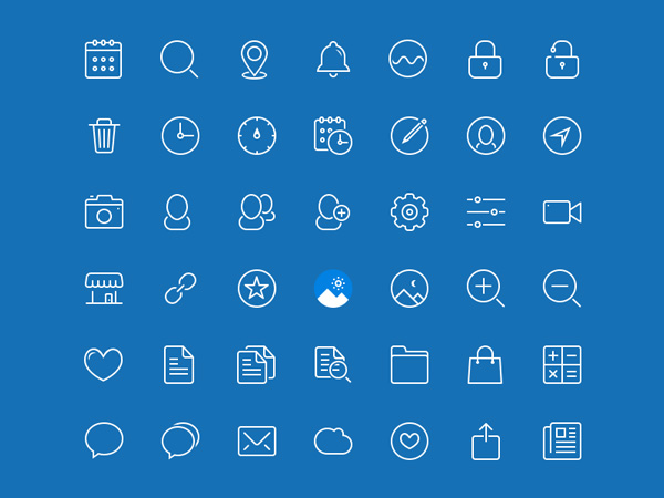 blue-drop-line-icons