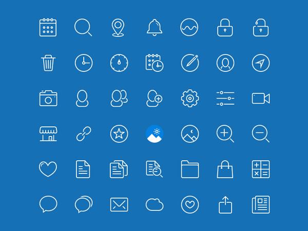 blue-drop-line-icons