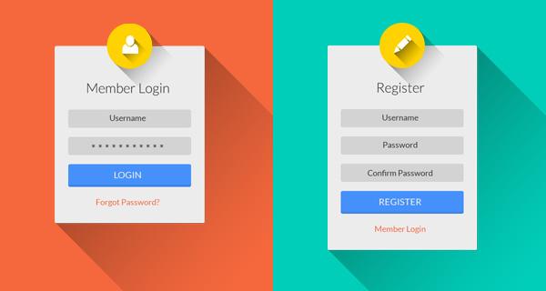 flat-login-register-psd-ui