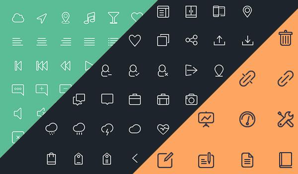 free-line-icons-set