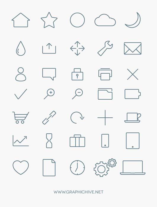 minial-line-icons