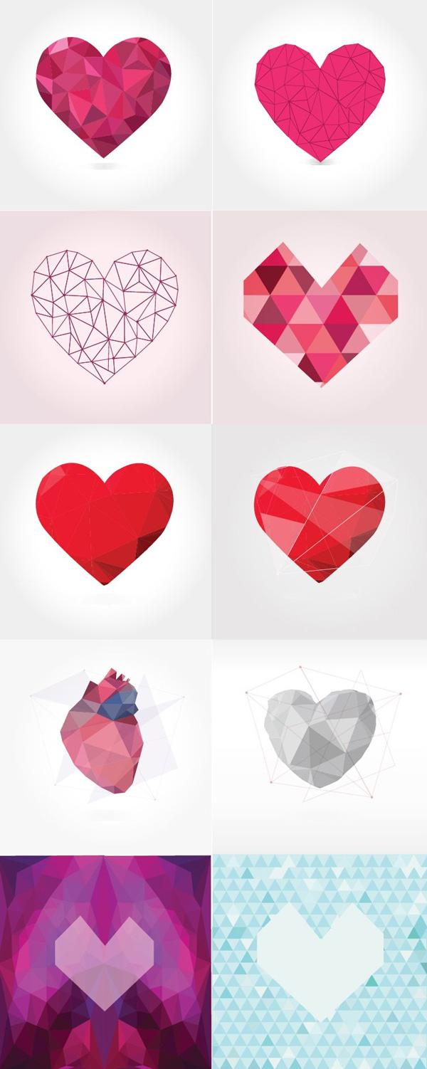 polygonal-hearts