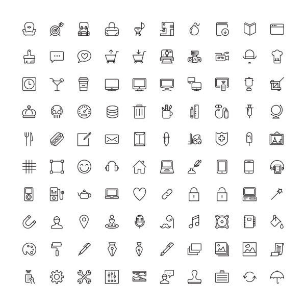20+ Free Sets of Line Icons