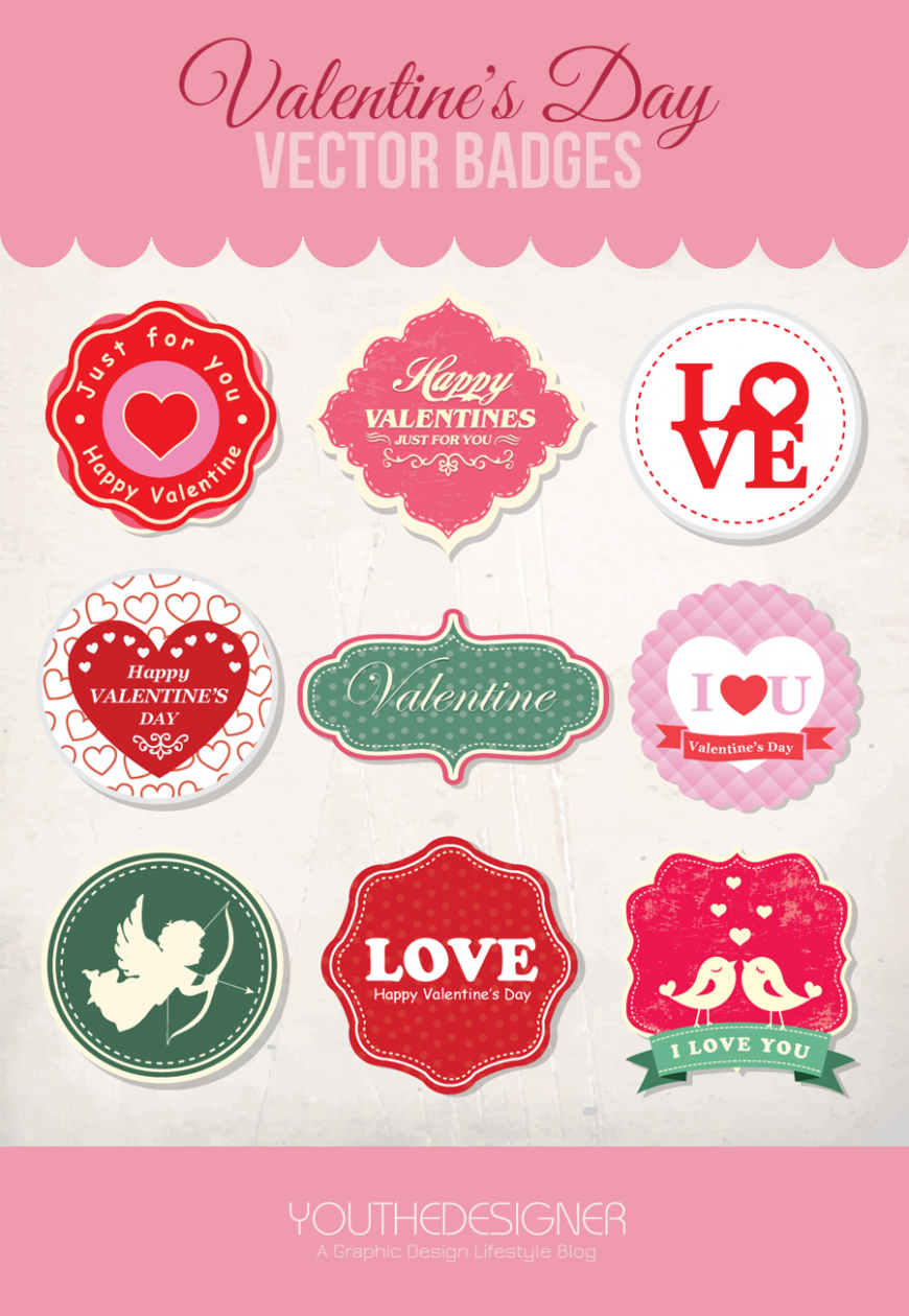 valentine-vector-badges