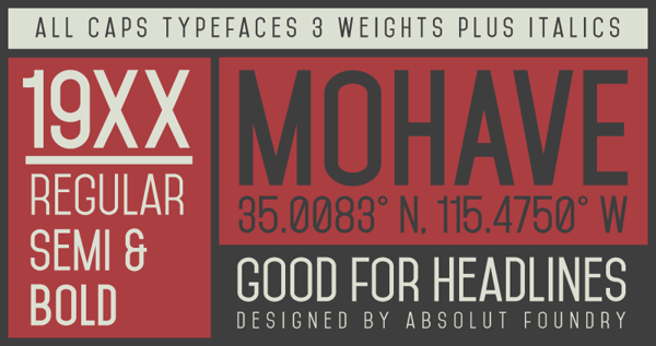 mohave-free-typeface