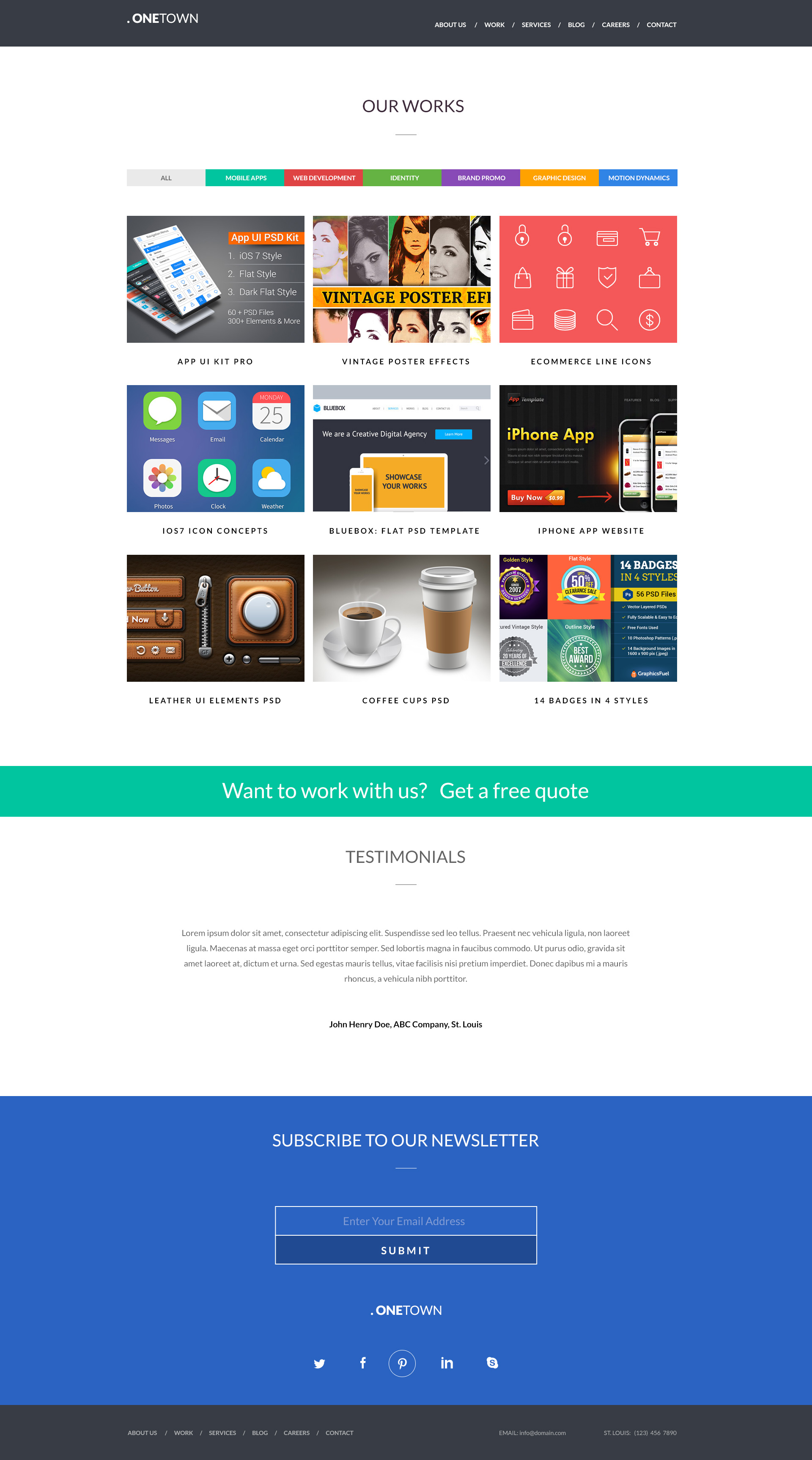 Free responsive website psd templates graphicsfuel for Free responsive website templates