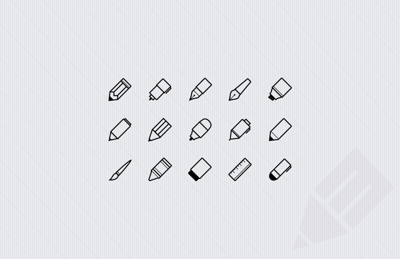Writing-Implements-icons