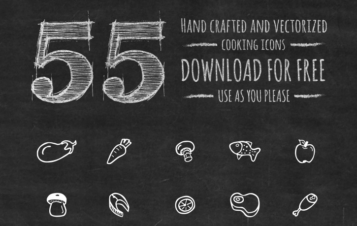 handdrawn-food-kitchen-icons
