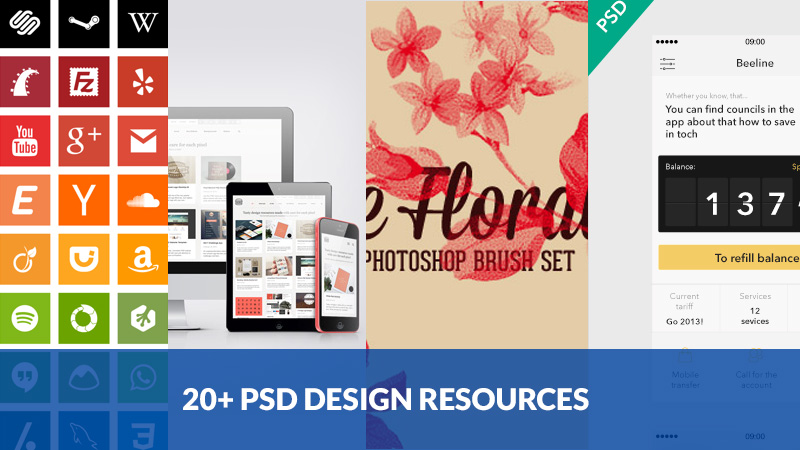 20+ Fresh Free PSD Resources For Designers