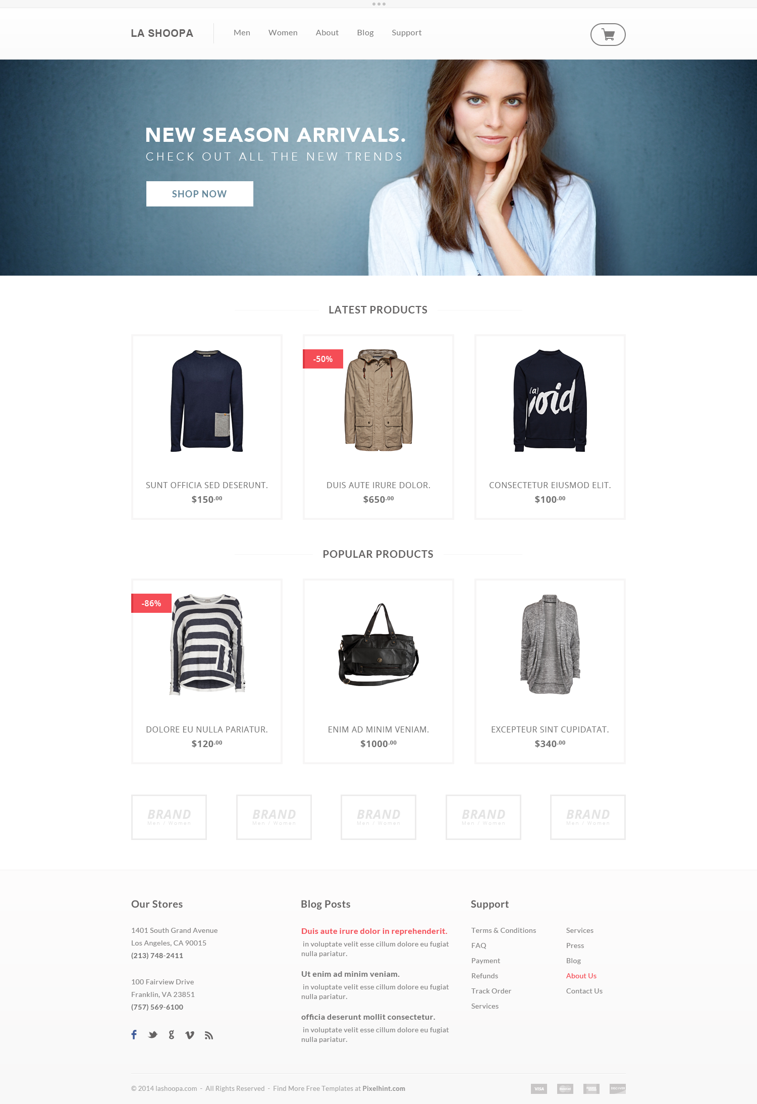 PSD-eCommerce-Website-Template