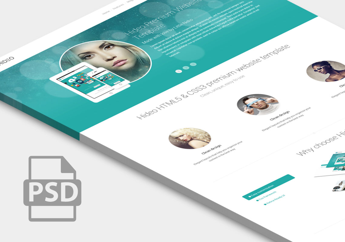 hideo-psd-web-template