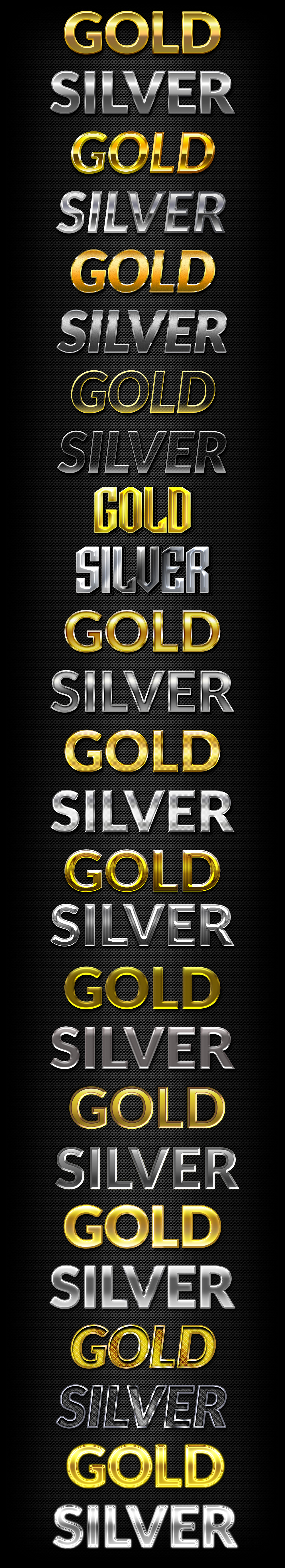 gold-silver-text-styles
