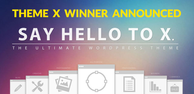 WordPress Theme X 2.0 Winner Announced