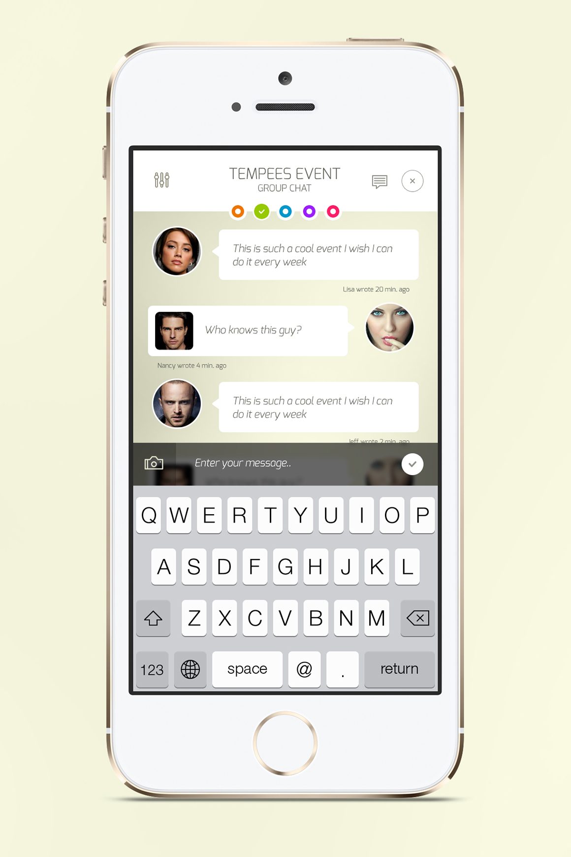 iOS Chat Screen