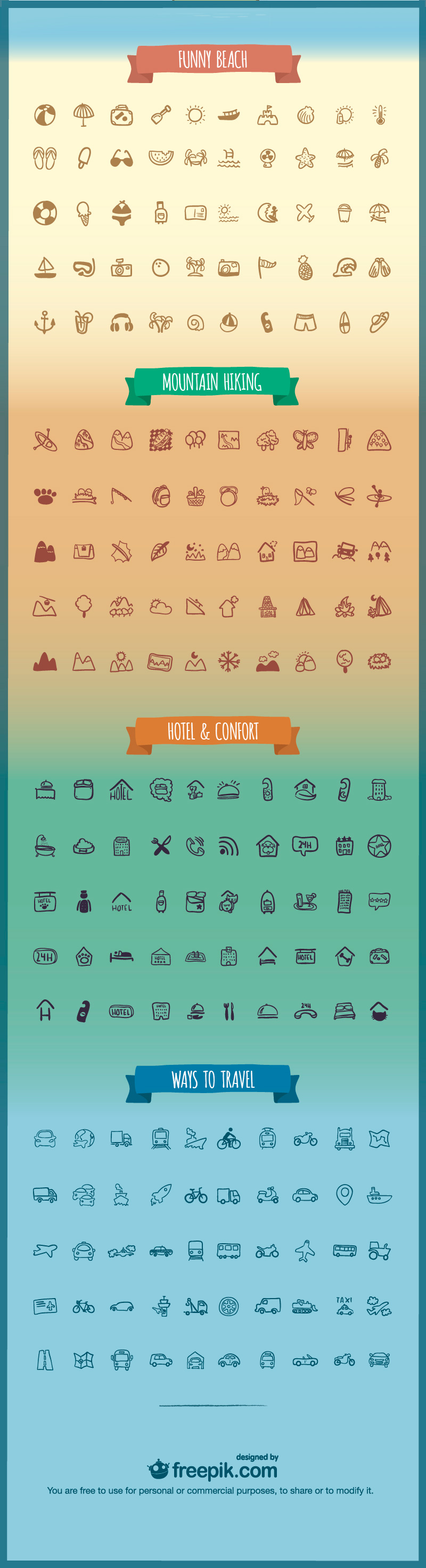 200 Holiday & Travel Icons