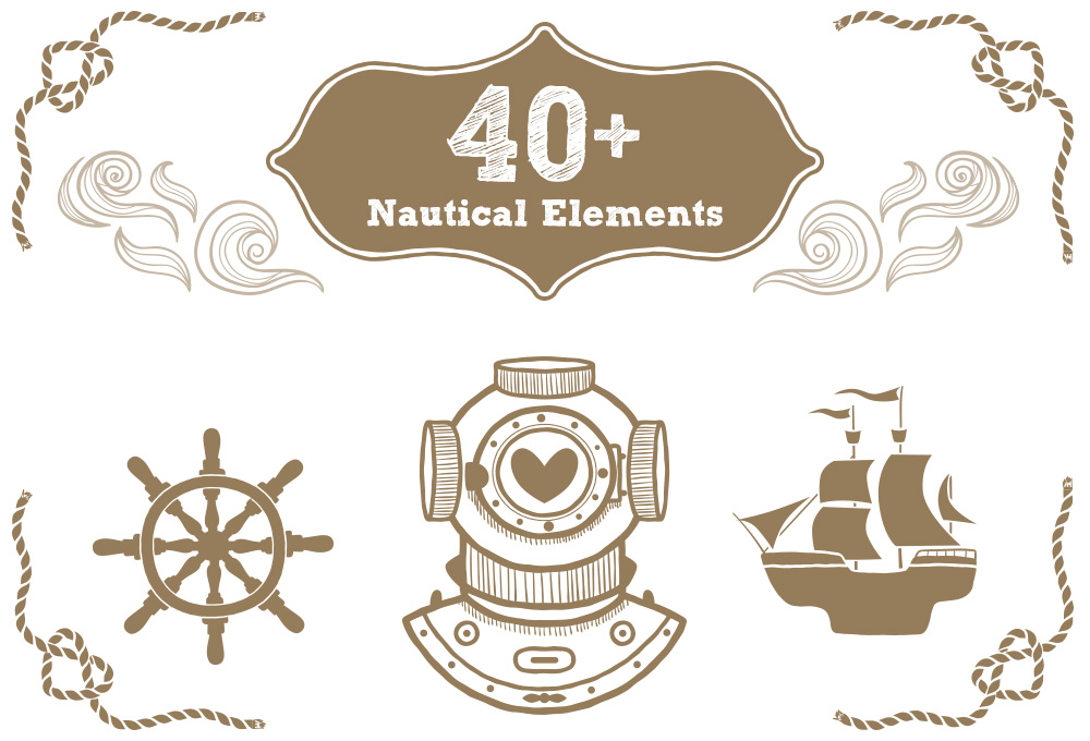 40+ Free Nautical Vector Elements - GraphicsFuel
