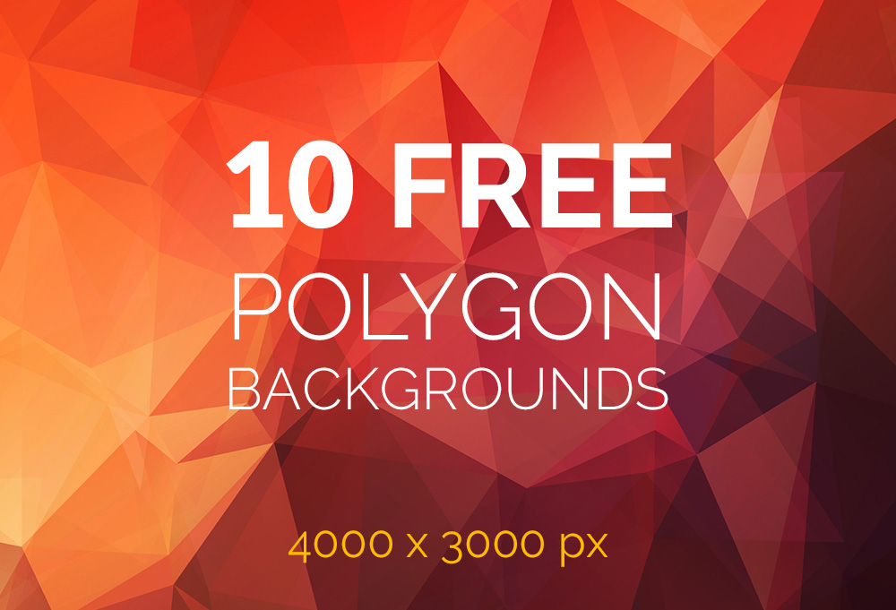 Friends, here's a free set of 10 polygon backgrounds to use in your ...: www.graphicsfuel.com/2014/09/10-free-polygon-backgrounds