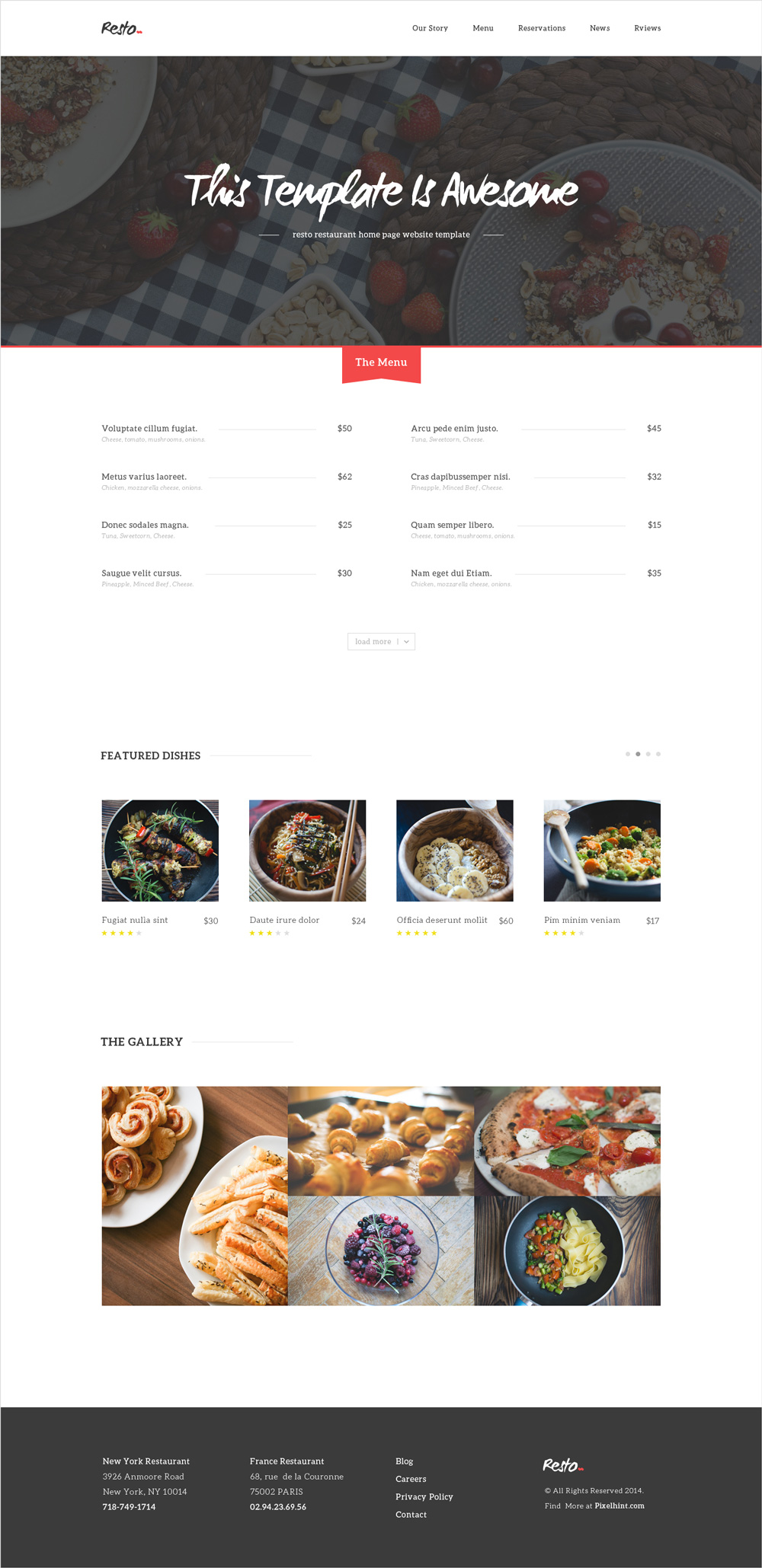 Free html css restaurant home page template graphicsfuel