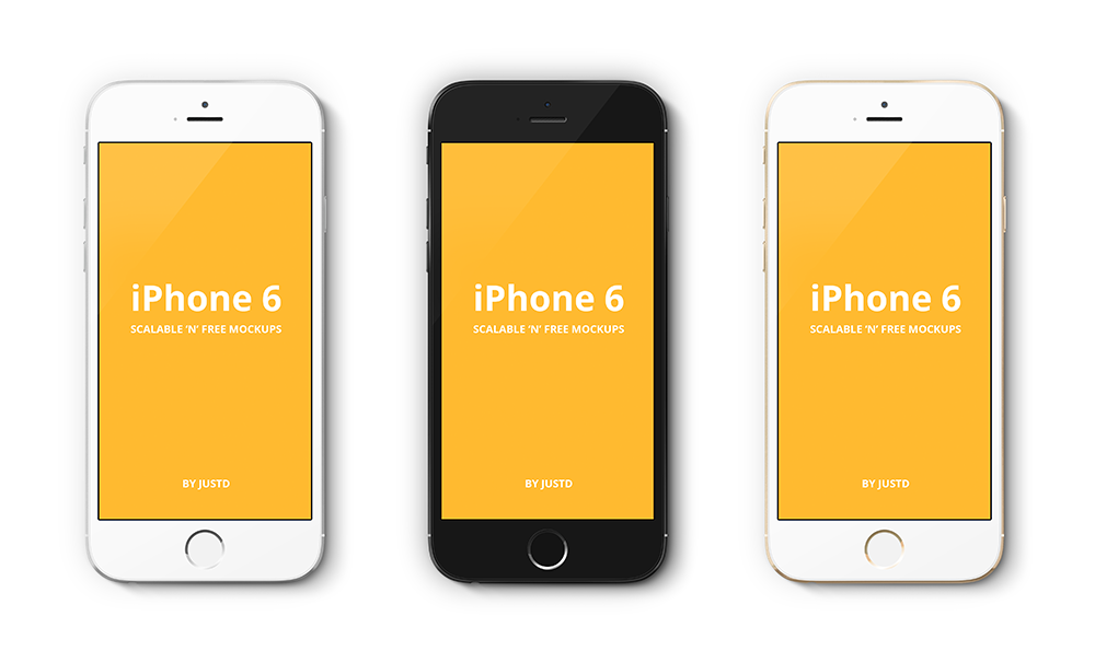 iPhone 6 Vector PSD Mockups