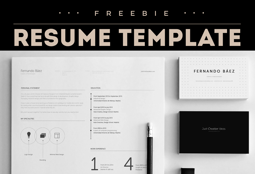Free Resume Template - GraphicsFuel