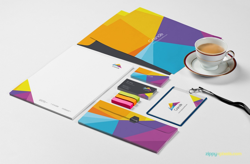 8 Stationery Branding PSD Mockups - GraphicsFuel