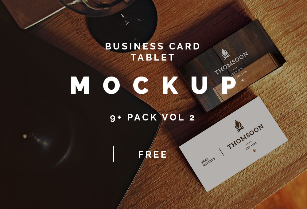 9+ Free Business Card and Tablet Mockups