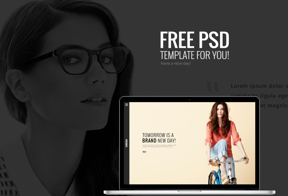 Free One Page Website PSD Template