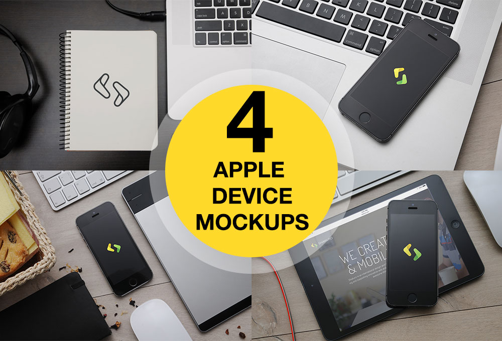 iPhone 5, iPad and Macbook Mockups