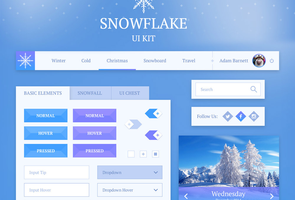 http://www.graphicsfuel.com/wp-content/uploads/2014/12/snowflake-free-ui-kit-featured.jpg