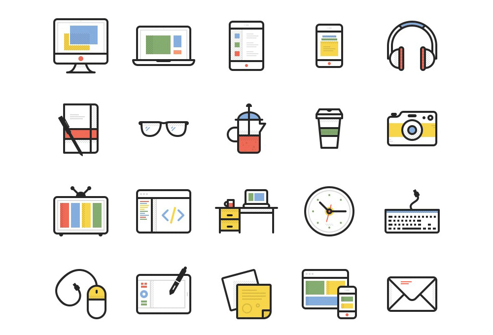 Dashel: 45 Free Vector Icons