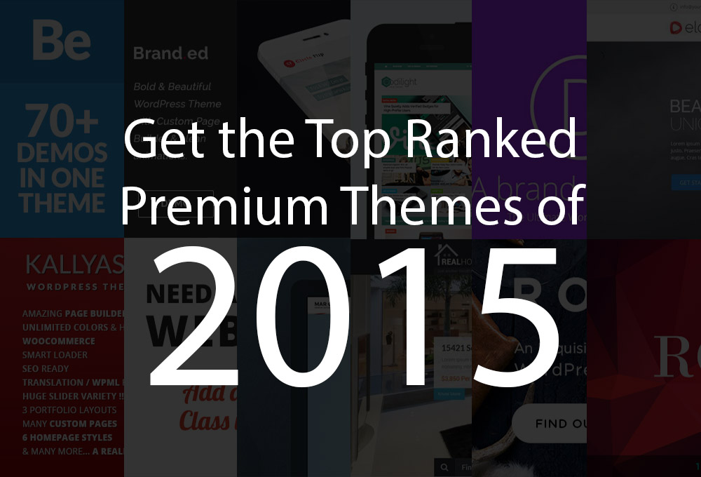 Get the Top-Ranked Premium Themes of 2015