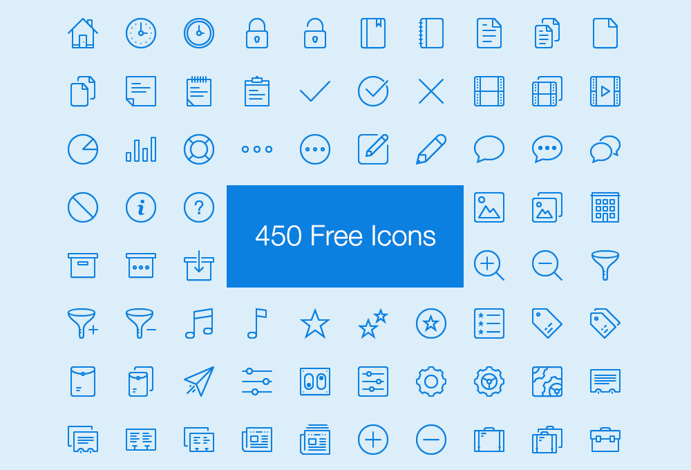 Lynny: 450 Free Thin Icons