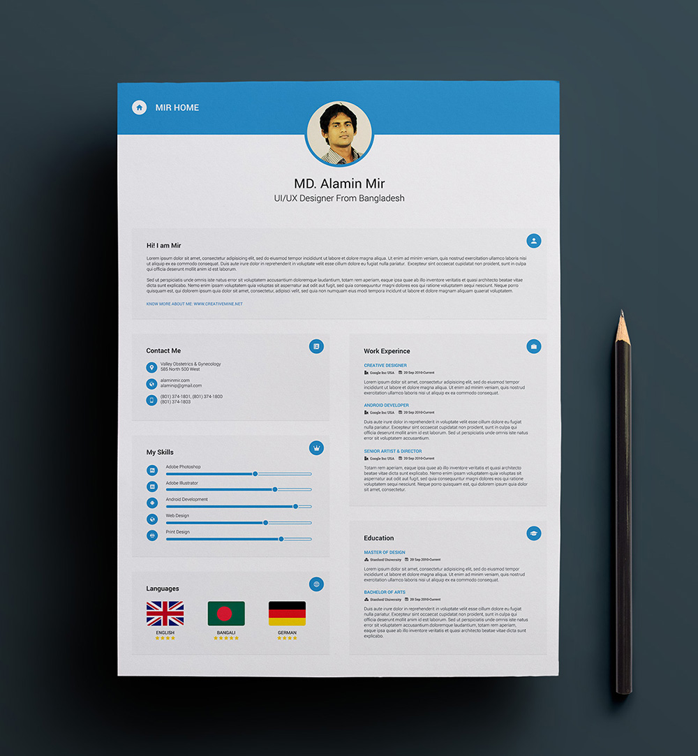 resume templates primer with - photo #9