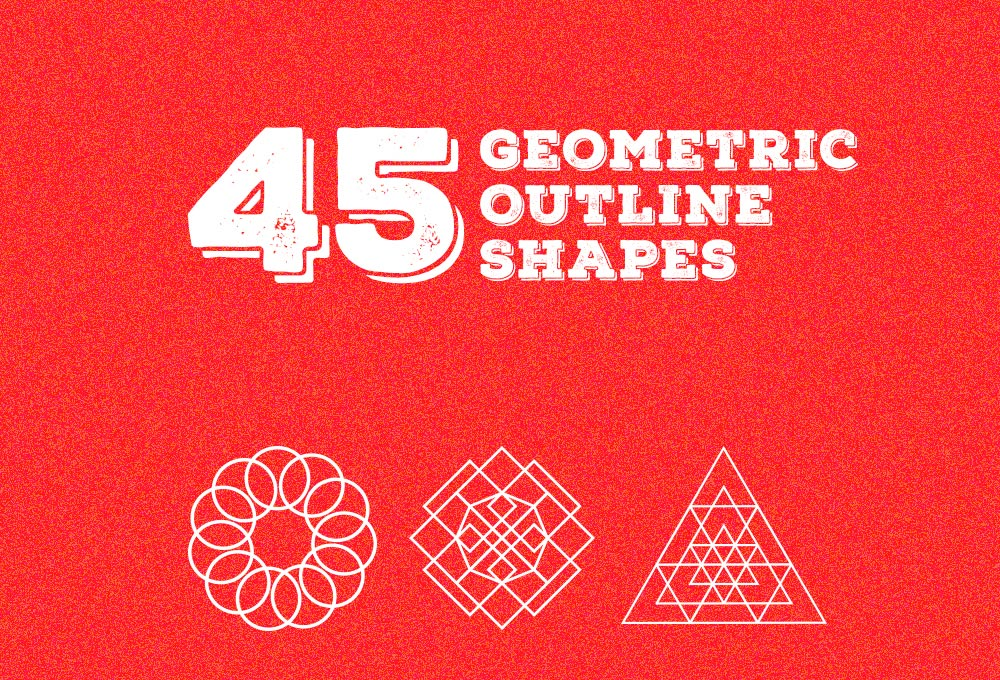 45 Free Geometric Outline Shapes