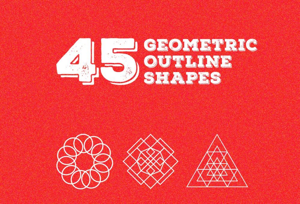 45 Free Geometric Outline Shapes