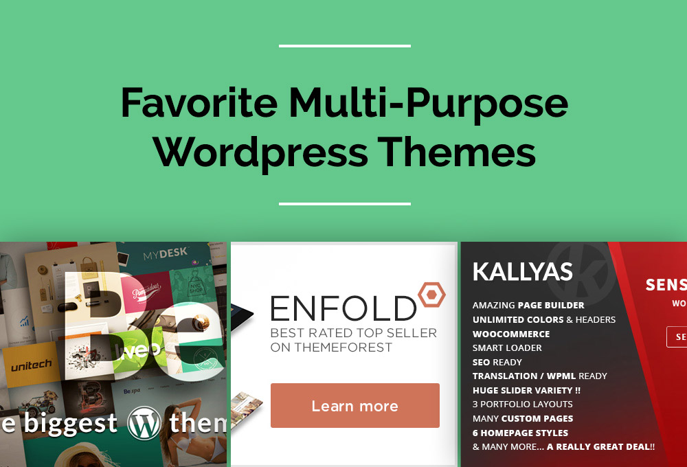 Our Favorite Multi-Purpose WordPress Themes